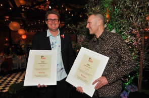 With Chris, NZ Post Children's Book Awards, May 2012 (MarkTantrum/Booksellers)