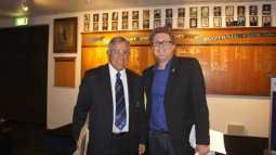 With BeeGee Williams at Ponsonby DRFC, launch of Dave Gallaher biography, June 2012