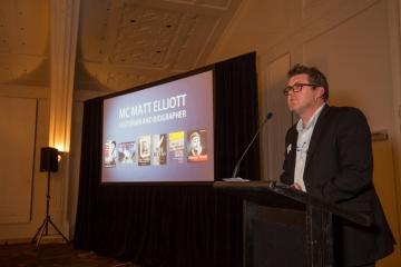 MC, NZ Book Industry Awards, 2016 (Photo Georgia Schofield)